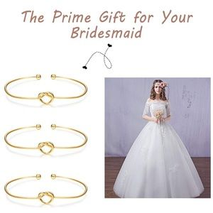👰 BRIDE TRIBE 6PC CUTE LOVEKNOT GOLD BRACELET SET
